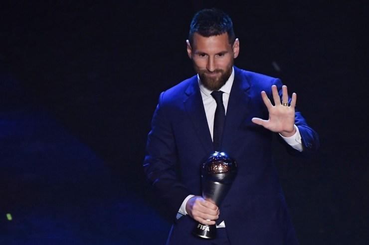 Lionel Messi beats Virgil Van Dijk and Critiano Ronaldo to win the Fifa best men's player award