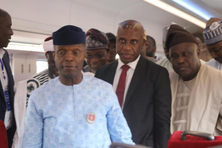 Osinbajo harps on potentials of railway system on nation-building