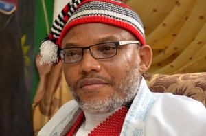 Nnamdi Kanu reacts to Aisha Yesufu's comments on Nigeria being worse than zoo