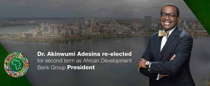 Akinwumi Adesina re-elected unanimously as President of the African Development Bank Group