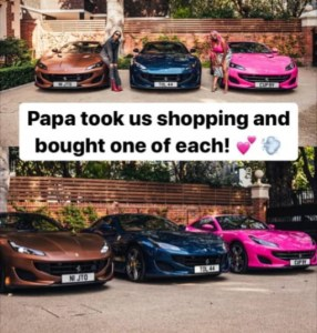 Don Jazzy and Davido promise their kids luxury as they react to Otedola's Ferrari gift