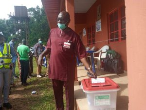 Edo Polls: Ize-Iyamu votes at Ugboko ward 4, commends conduct of election