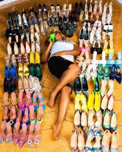 Linda Ikeji acquires 85 designer shoes and 40 bags to celebrate 40th birthday