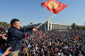 Protesters rally in Bishkek against appointment of new prime minister