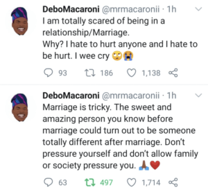 """""""I am scared of being in a relationship"""" – Mr Macaroni"""