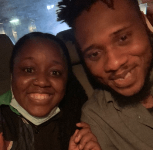 Reactions as End SARS protest frontliners, Eromz and Moe go out for dinner after been released