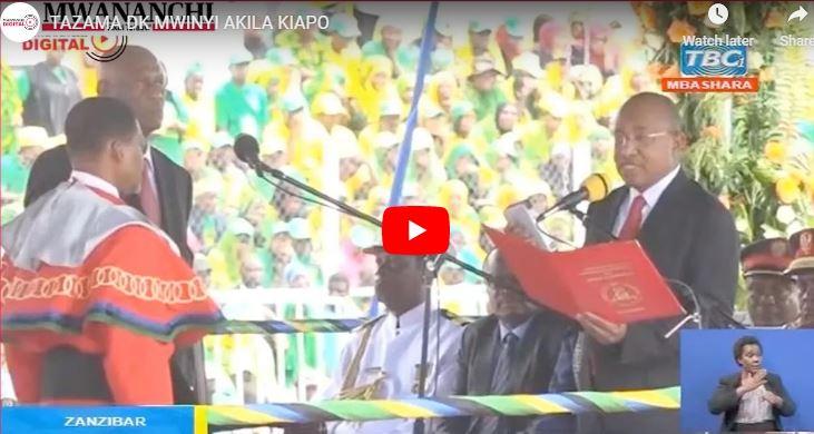 Mwinyi sworn in as president of Tanzania's Zanzibar