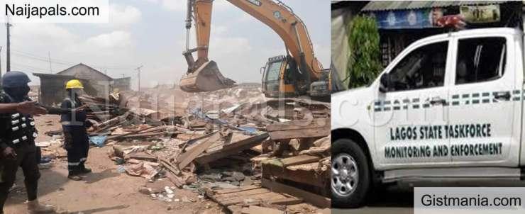 Lagos Taskforce destroys over 1,700 illegal shanties at Agege