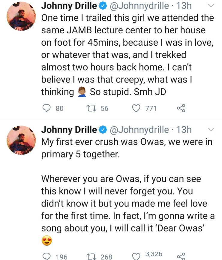 Singer Johnny Drille opens up about the crazy things he's done for love