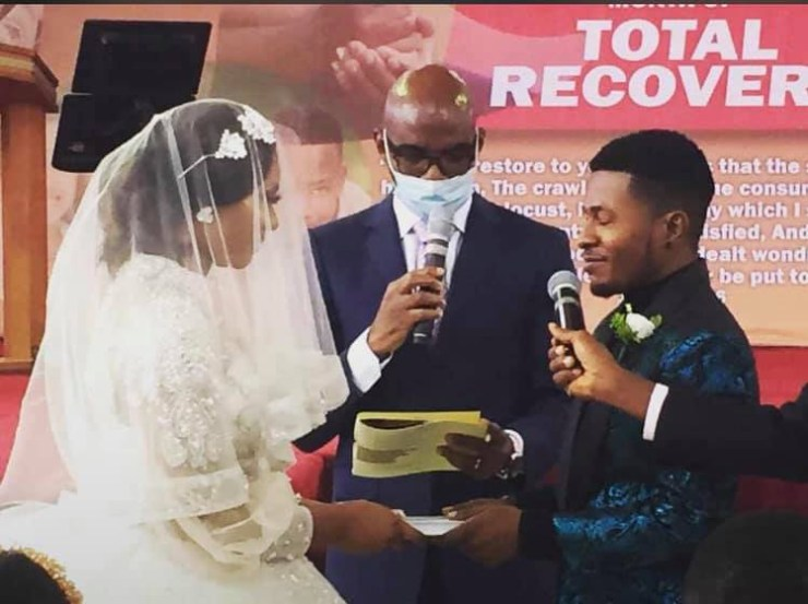 Photos from actor Samuel Ajibola 'Spiff' and Sandra's white wedding