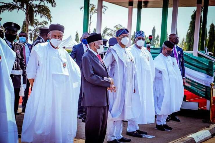 Defence Minister advocates support for Armed Forces as he joins Buhari to lay wreath