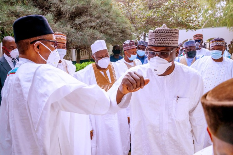 PHOTO NEWS: Buhari, Kwara Gov, others meet again