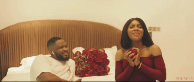 Watch how Lola OJ's man popped the question and sealed it with a gift that keeps giving