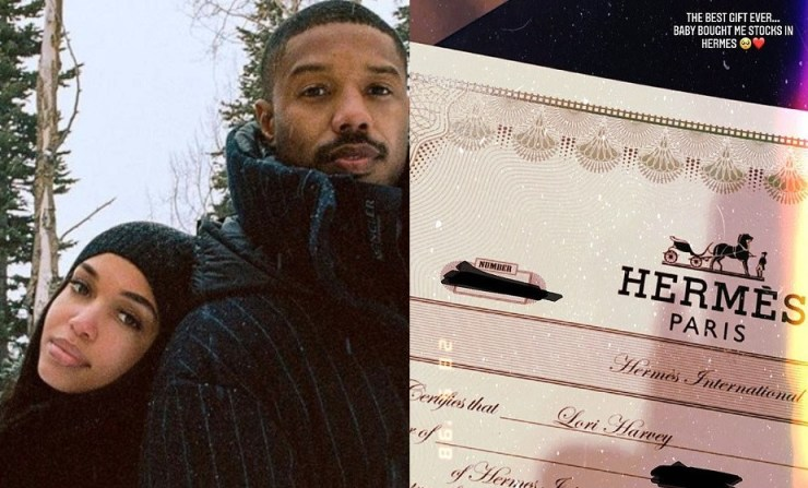 Michael B Jordan buys girlfriend Lori Harvey stocks in Hermès as Valentine's day gift