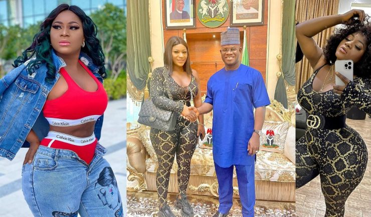 """You went to seduce him"" – Nigerians drag actress, Destiny Etiko over the outfit she wore to pay Gov, Yahaya Bello a visit"