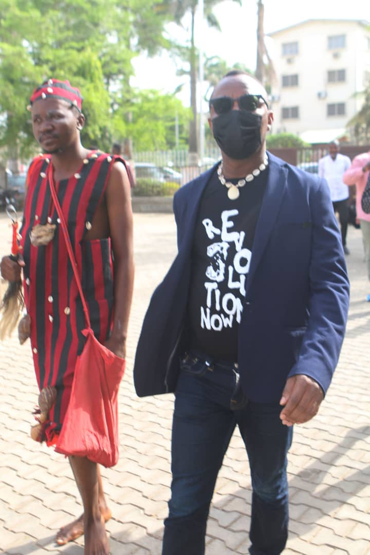 Native doctor follows Omoyele Sowore to court in Abuja