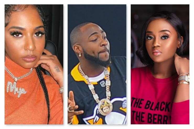 Chioma, Amanda and Davido's alleged current lover, Mya celebrate his cousin on her birthday