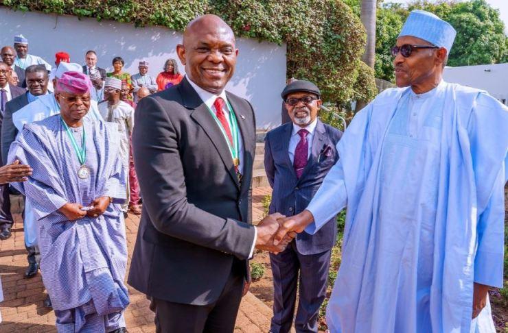 Buhari salutes Tony Elumelu at 58