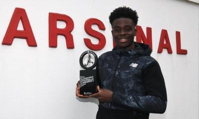 London Football Awards: Arsenal's Bukayo Saka wins 2021 Young Player of The Year