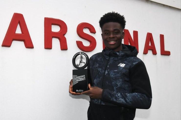 Arsenal's Bukayo Saka wins 2021 Young Player of The Year