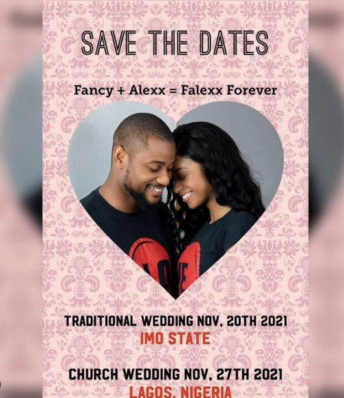 Alexx Ekubo announces wedding dates with an invite
