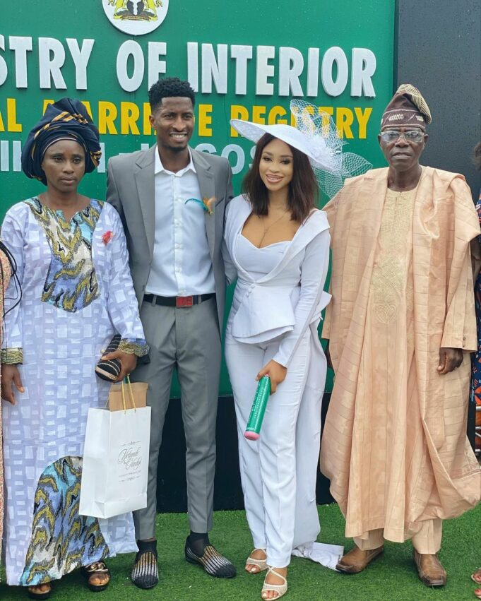 Miss Pepeye of 'Papa Ajasco' legally ties the knot with footballer, Olayinka Peter