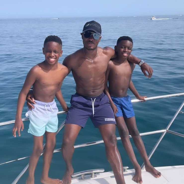 Jude Ighalo shares photos and his videos from his vacation with his kids