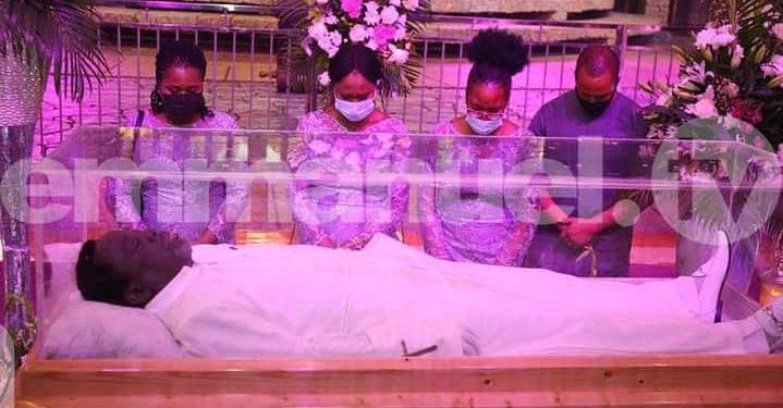 Wailing as Prophet TB Joshua's body arrives church