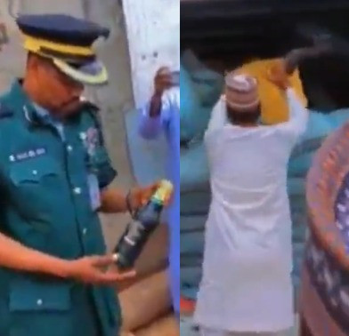 (VIDEO) What Hisbah police found inside this truck in Kano will surprise you