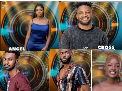#BBNaija: Cross, Saskay, Angel,Yousef and Emmanuel up for eviction as Whitemoney wins Head of House challenge