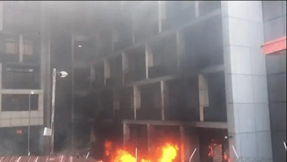 JUST IN...... NPA head office guts fire