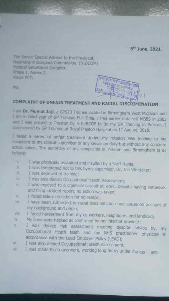 BREAKING.....Nigerian family based in UK appeal to Buhari, Abike-Dabiri for urgent home return