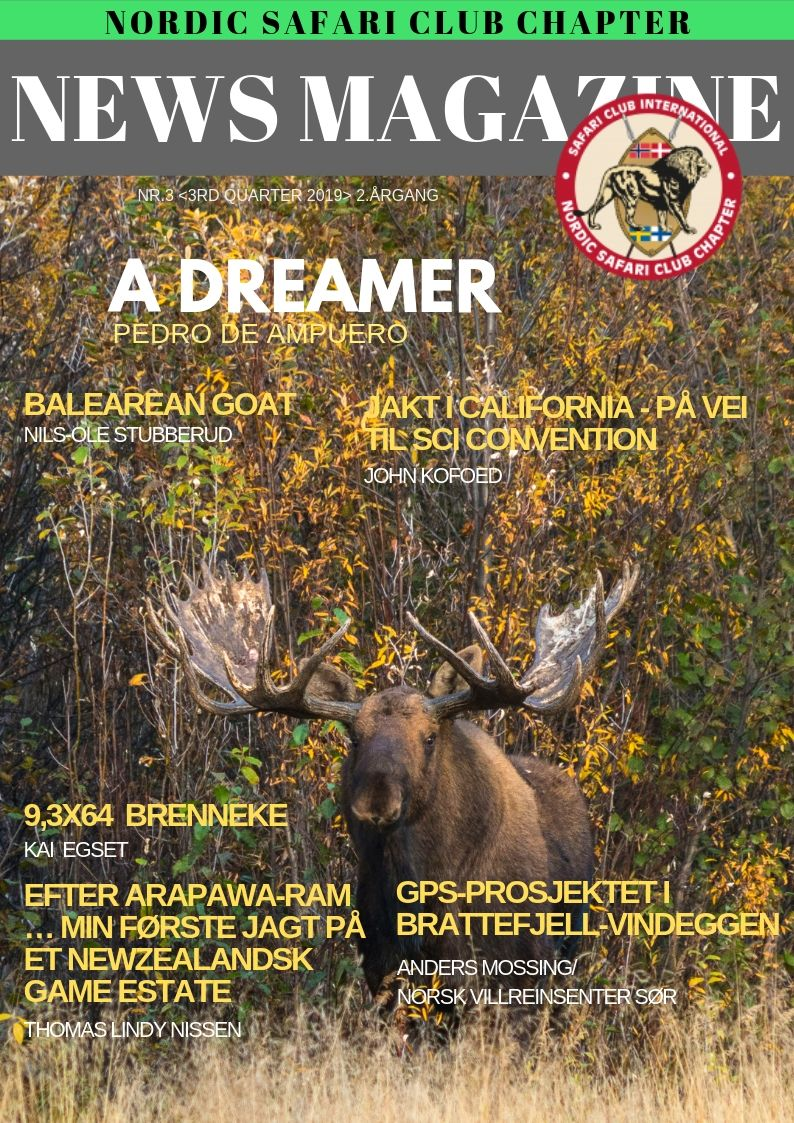 NORDIC SAFARI CLUB CHAPTER NEWSLETTER 3rd QUARTER 2019