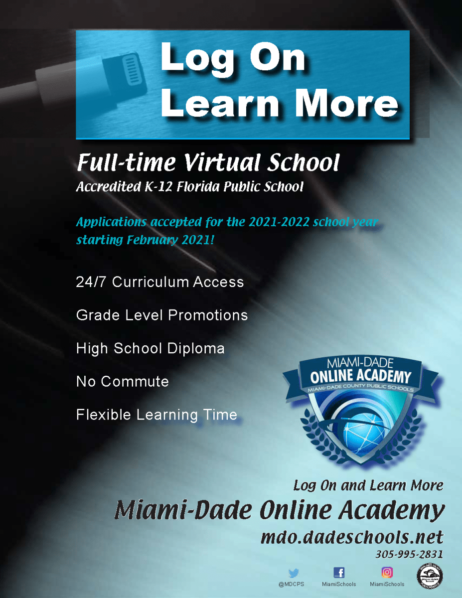 Mdcps 2022 Calendar.2021 2022 Open Enrollment Period For District S Full Time Virtual School Royal Palm Elementary