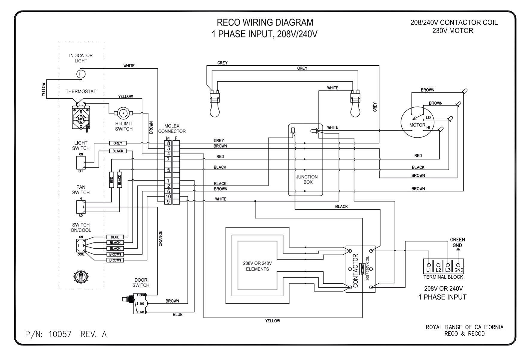 electric cooker switch wiring diagram briggs and stratton magneto diagrams royal range of california reco
