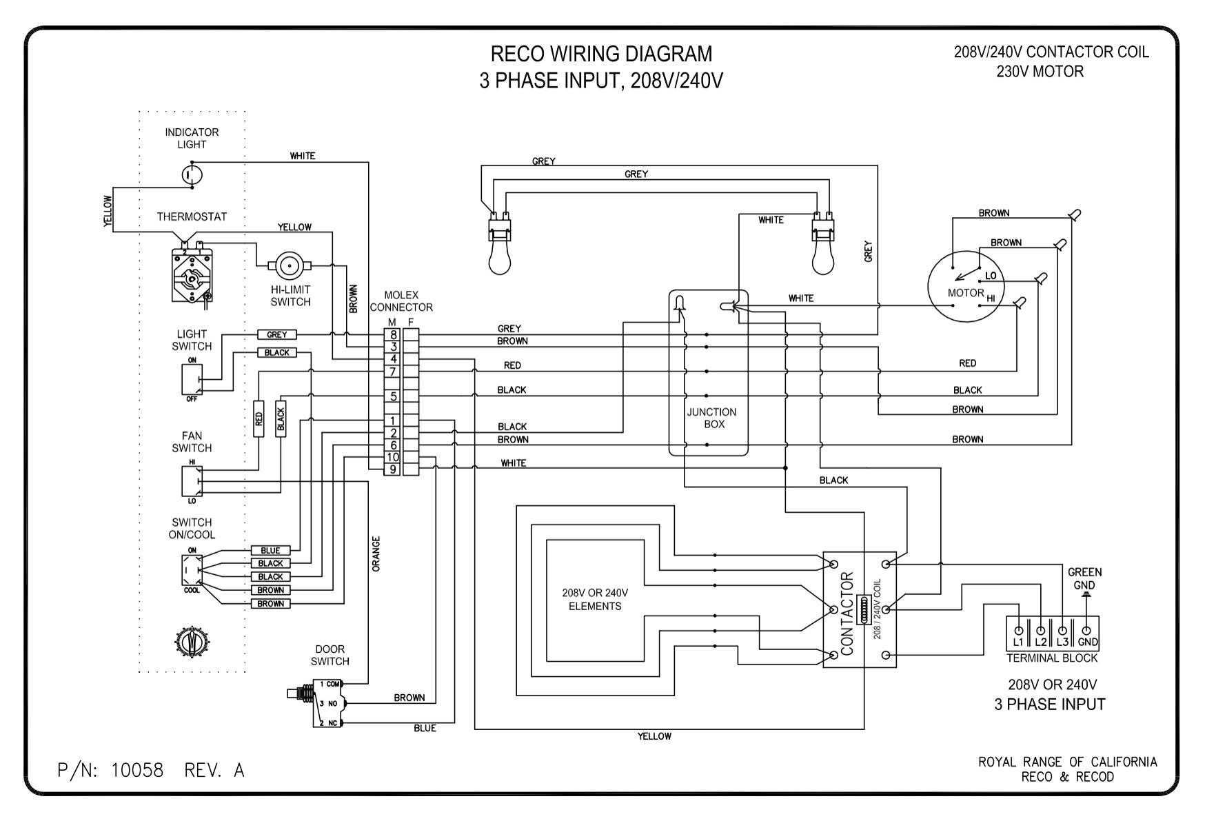 3 wire plug diagram for oven