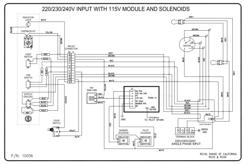 small resolution of wiring diagrams royal range of californiarco 220 230 240v with 115v moc and solenoid