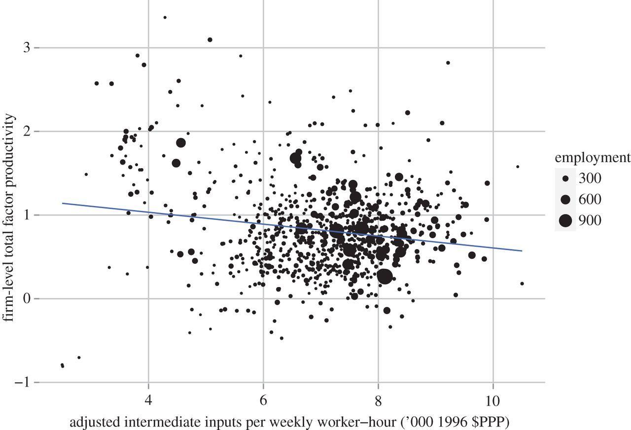 Intermediate inputs and economic productivity