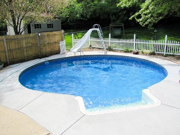 27' Round Inground Swimming Pool Kit With 42'' Steel Walls