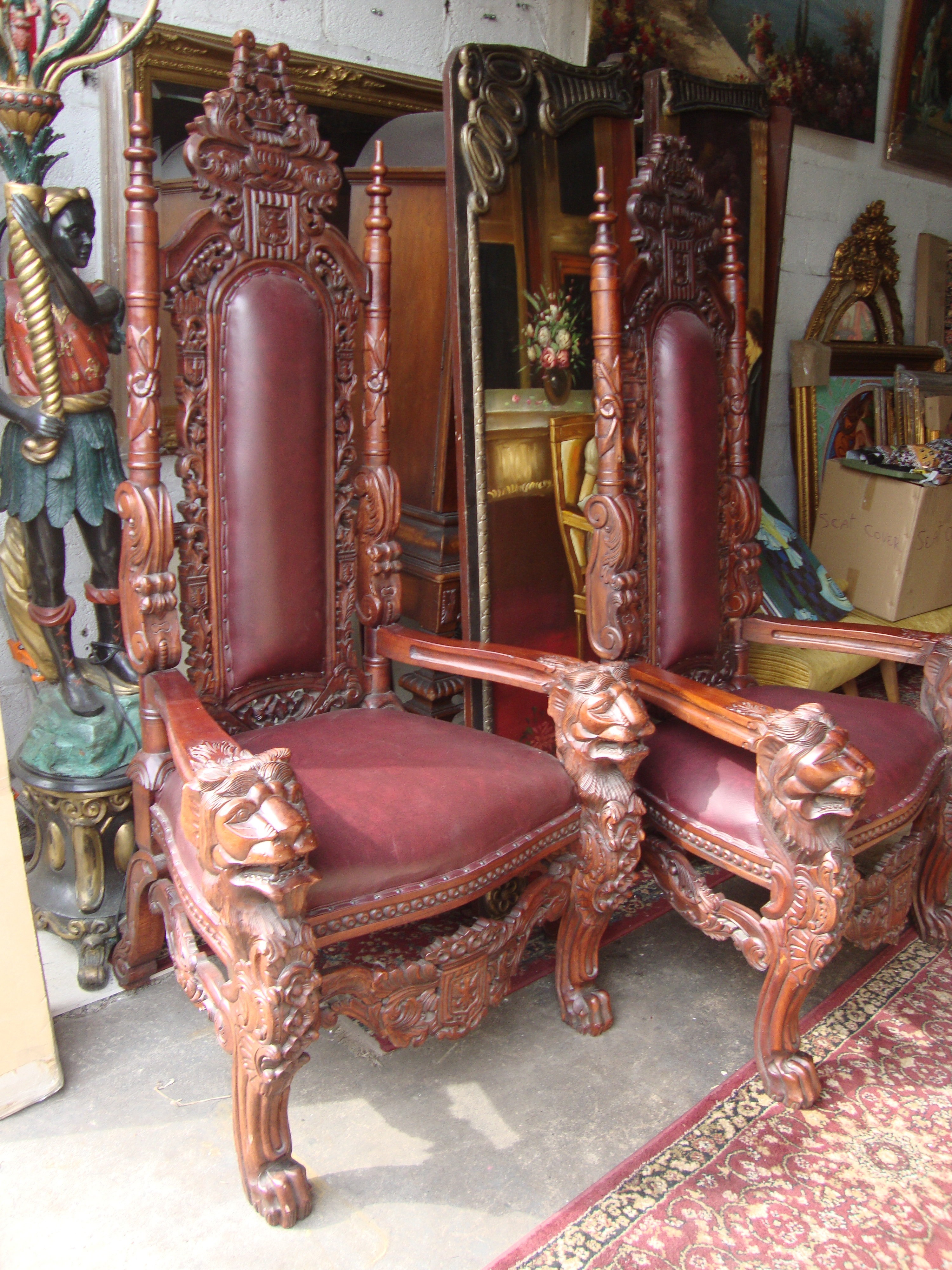 black gothic throne chair swing townsville royal trasures warehouse furniture