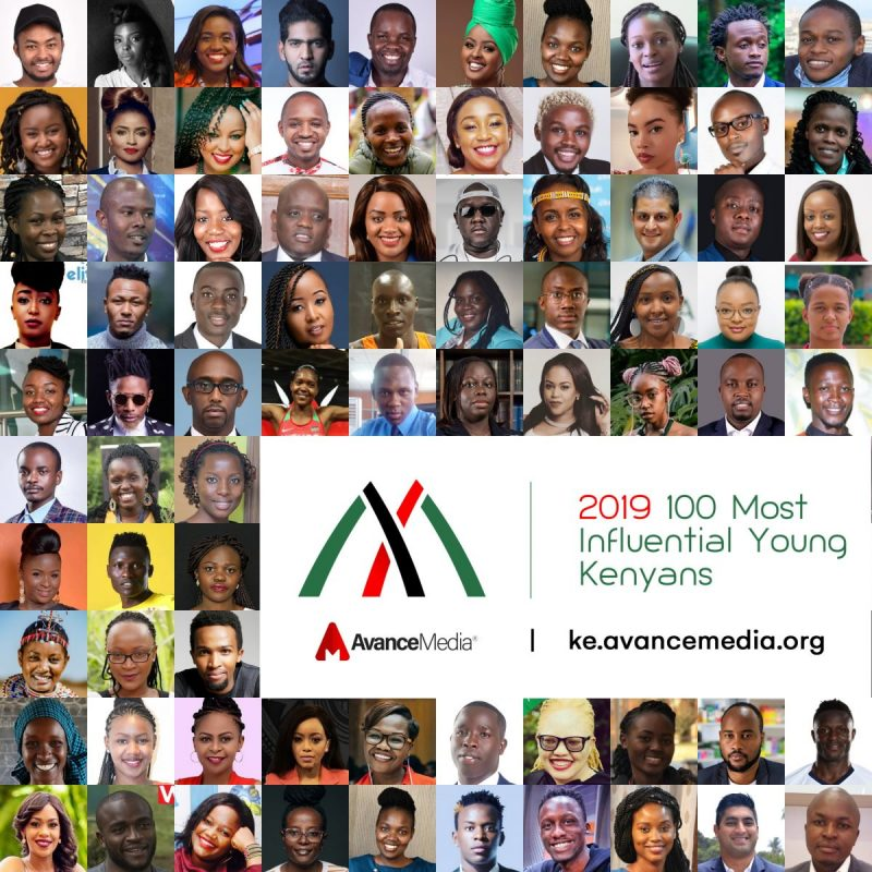 The most anticipated annual list of young Kenyans, 100 Most Influential Young Kenyans, which is curated by leading PR & Rating firm, Avance Media, has been released.