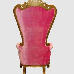 High Backed Throne Chair Chicco Hook On Highchair Recall Alice Pink And Gold Royalty Furniture Store 2 641 00 1 820 Sale Click