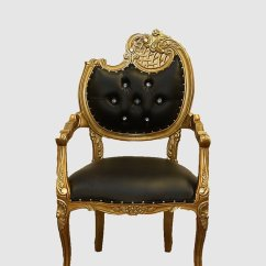 Louis Xv Chair Ergonomic Kneeling Black Baroque Royalty Furniture Store Click