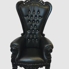 High Backed Throne Chair Gray And Ottoman Back Black Royalty Furniture Store Click