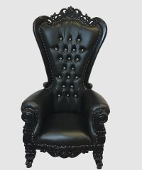 Queen of Hearts Red and Gold High Backed Throne Chair ...