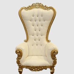 High Backed Throne Chair Comfy Lounge Chairs For Bedroom Gold And White Royalty Furniture Store 1 553 00 Sale Click