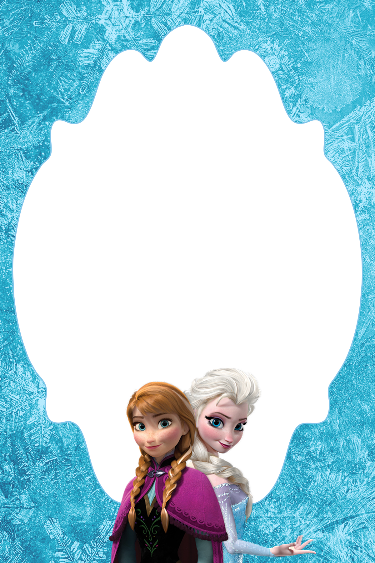 4×6 Free Frozen Blank Thank You Card Or Treat Bag Topper