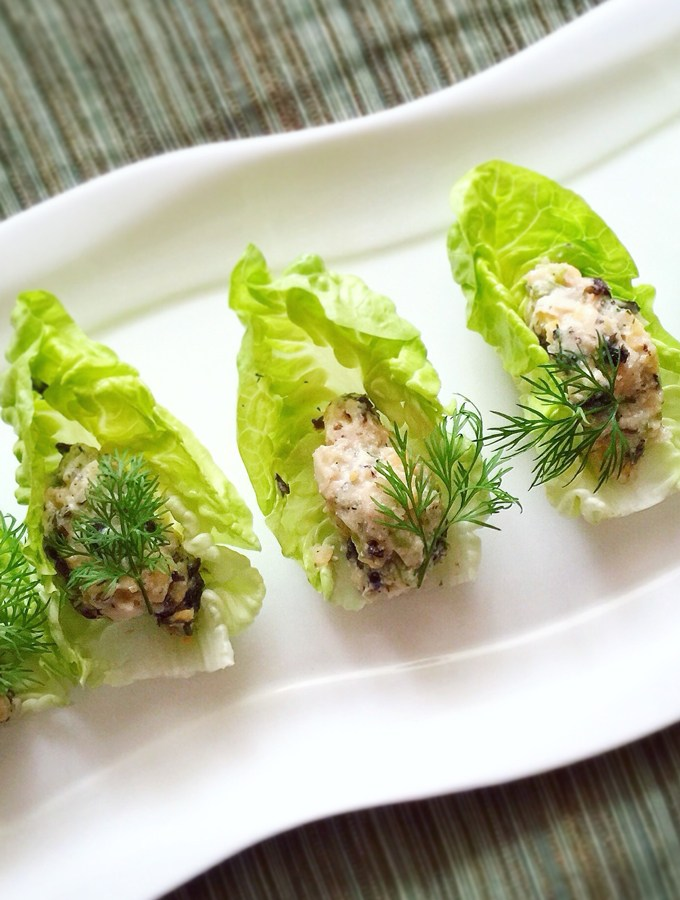 "Chickpea ""Tuna"" Salad Bites with Dill"