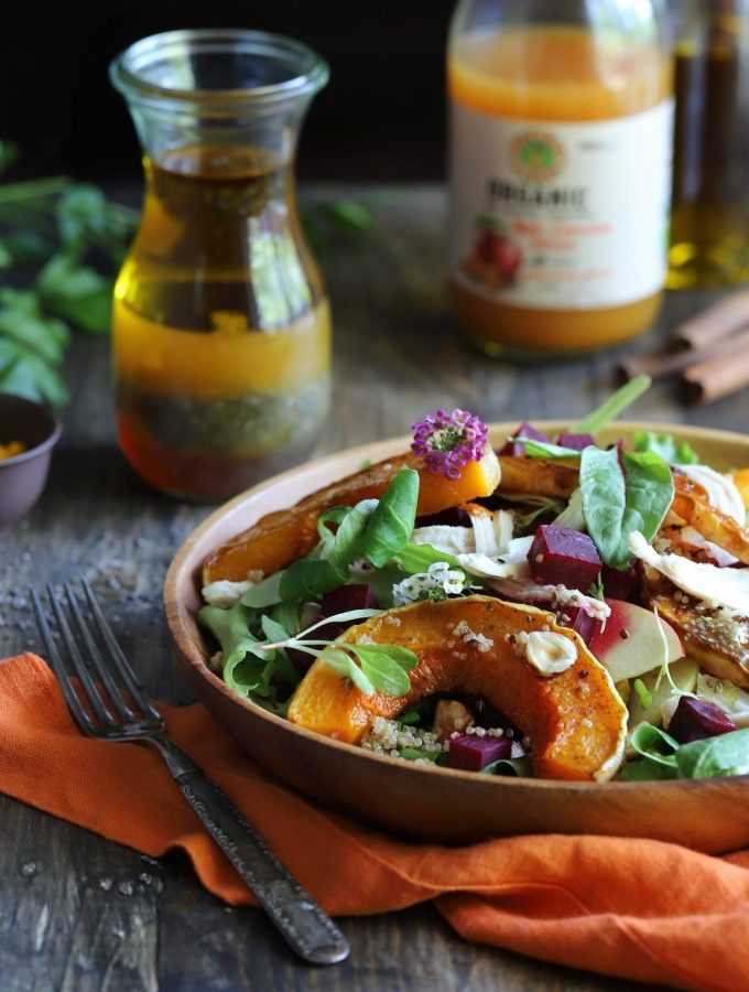Autumn Harvest Salad w/ Butternut Squash & Apple Cinnamon Vinaigrette