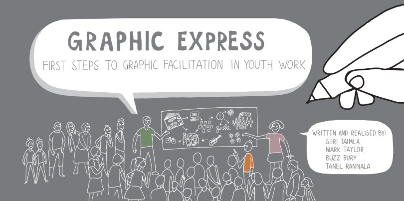 Graphic Express is an amazing resource in PDF form, available for free under a Creative Commons 'Attribution, No Derivatives, Non-Commercial' license. It's a complete guide to the thinking and practices of visual facilitation. Well worth the download.